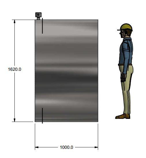 Large end-insert meter