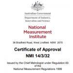 NMI approval